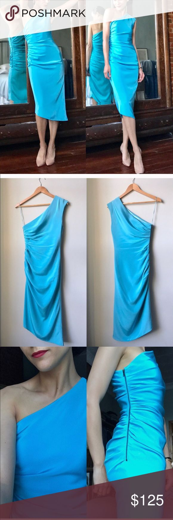 Designer Glacier Ice Dress Excellent used condition! Tag size 4, fits like a small. This gorgeous dress will draw attention to you as well as hide any imperfections. It is stretchy and has great cinching that hides all. Prabal Gurung Dresses Midi
