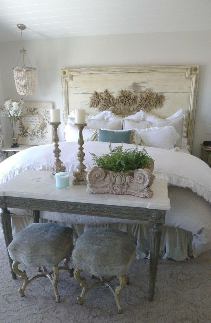 French country bedroom white - 42 Awesome French Country Bedroom Decoration