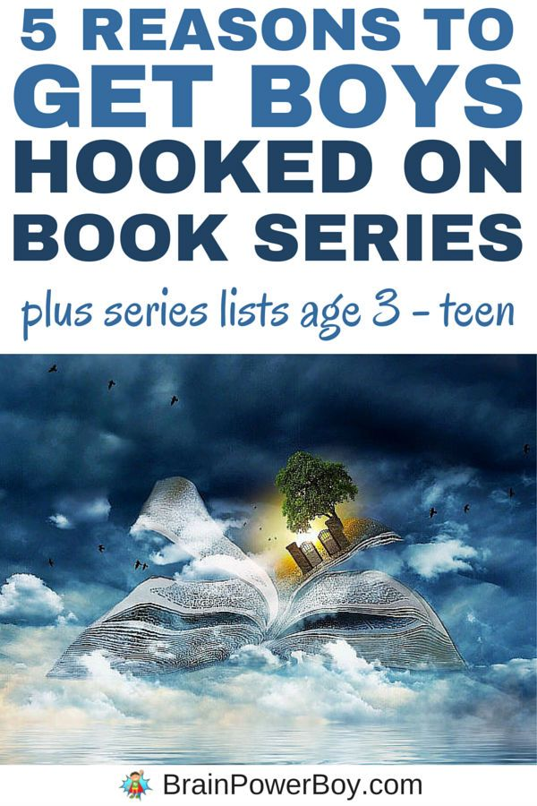 Top 5 reasons to get boys hooked on book series. Find out why book series are great for boys and get book lists for boys 3-years-old through teen.