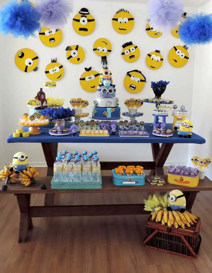 Minions party despicable me party festa minions - Decoraciones de bares ...