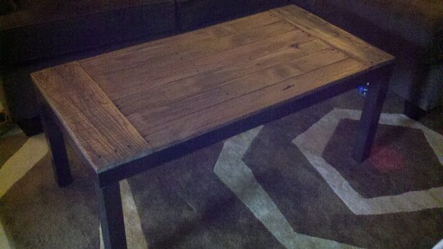 Recycled Pallets and 2 Ikea Lacks Made an awesome Rustic Coffee Table - IKEA Hackers - IKEA Hackers