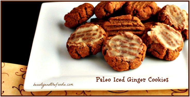 Paleo Iced Gingerbread Cookies