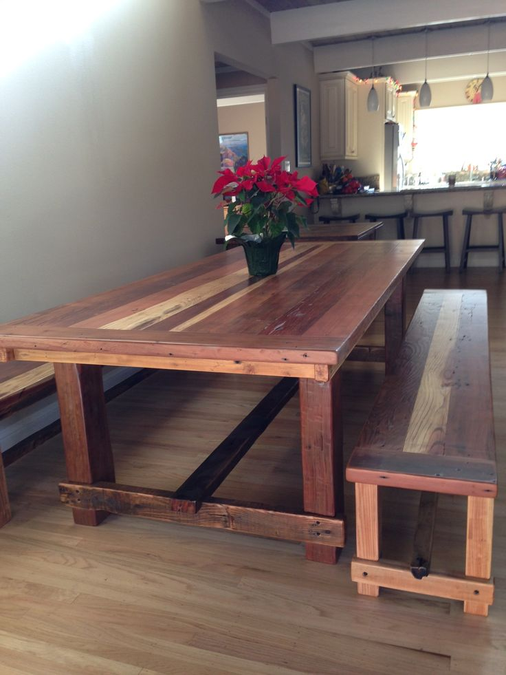 Custom Farm Table And Benches