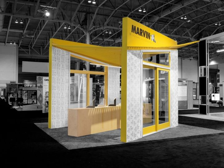 Marvin Windows and Doors Canada booth by Arc Co Design Collective
