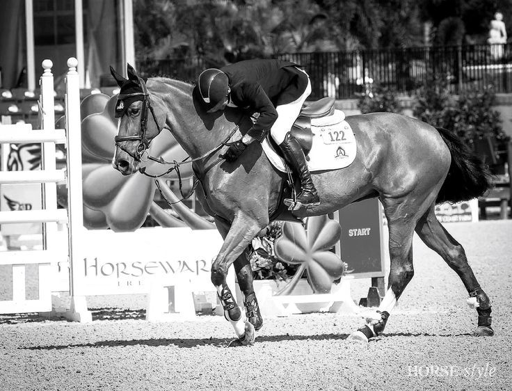 Eric lamaze and fine lady 5 photo horse and style magazine · black white magazinejumperwhite