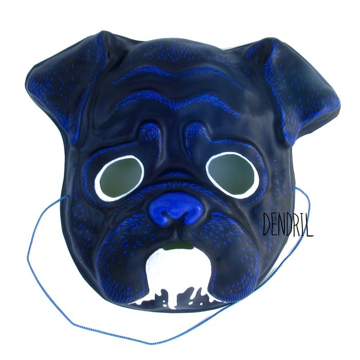 Drooling Pug Mask by Dendril
