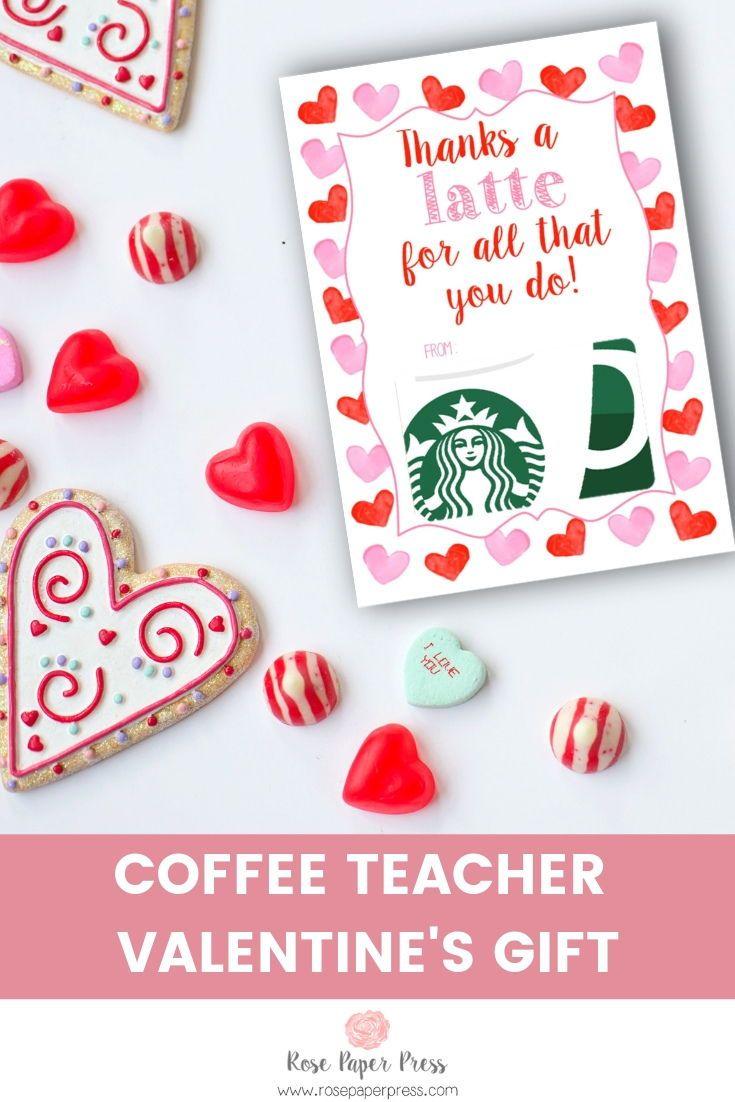 Latte Valentine S Gift Card Holder Rose Paper Press Teacher Valentine Gifts Coffee Gifts Card Teacher Valentine
