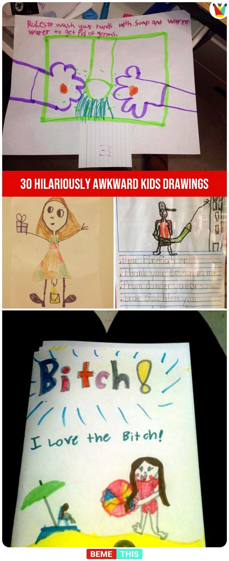 30+ Hilariously Awkward Kids Drawings