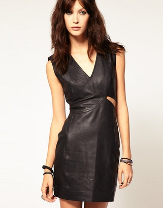 Gestuz Body-Conscious Leather Cut Out Dress: Asos Com, Discover Fashion, Shops Gestuz, Leather Cut, Gestuz Bodycon, Fashion Online, Leather Dresses, Cut Outs, Bodycon Leather