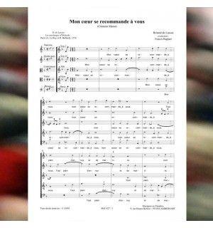Roland de LASSUS / Clément MAROT : Mon coeur se recommande à vous - Chanson de la Renaissance pour choeur à 5 voix mixtes (SSATB) publiée aux Editions Musiques en Flandres - référence MeF 427