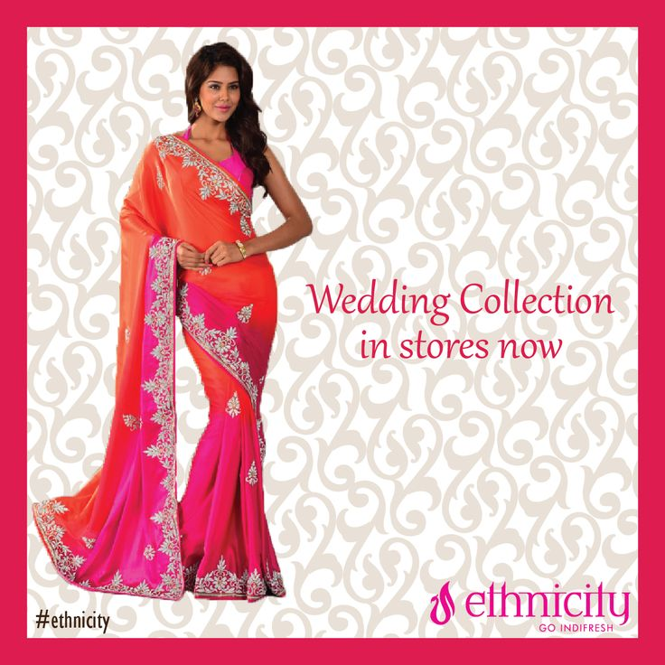 'Warm colours are just right to wear in weddings'. Don't you agree? #ethnicity
