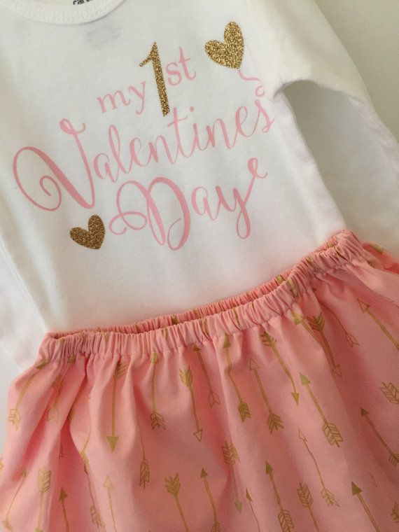 First Valentines outfit  Baby Girl Outfit by BabyMaeBoutique