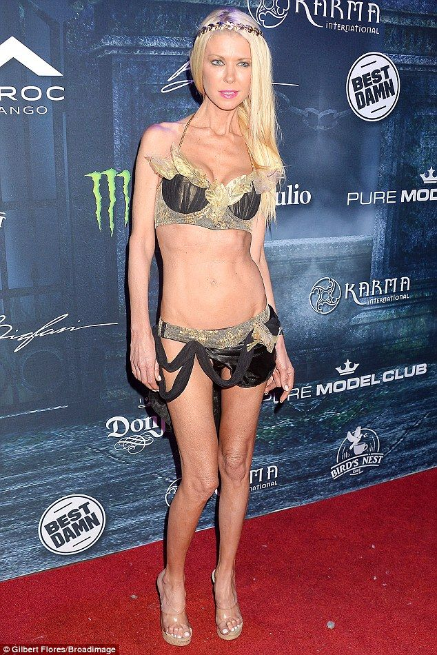 Eye-popping! Tara Reid left little to the imagination at the Maxim magazine Halloween Party in Los Angeles on Saturday