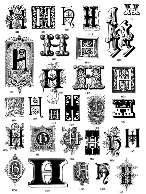 45 best the letter h images on pinterest alphabet letters script from victorian decorative letters cd rom and book altavistaventures Choice Image