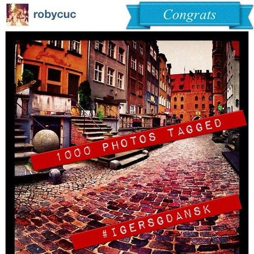 8.08.2012 Thank you all @igers and @robycuc for tagging your beautiful photos #igersgdansk. 1000 photos with igersgdansk tag :-) in #Gdansk #Sopot #Gdynia and #Pomorskie region  (Taken with Instagram at Mariacka)