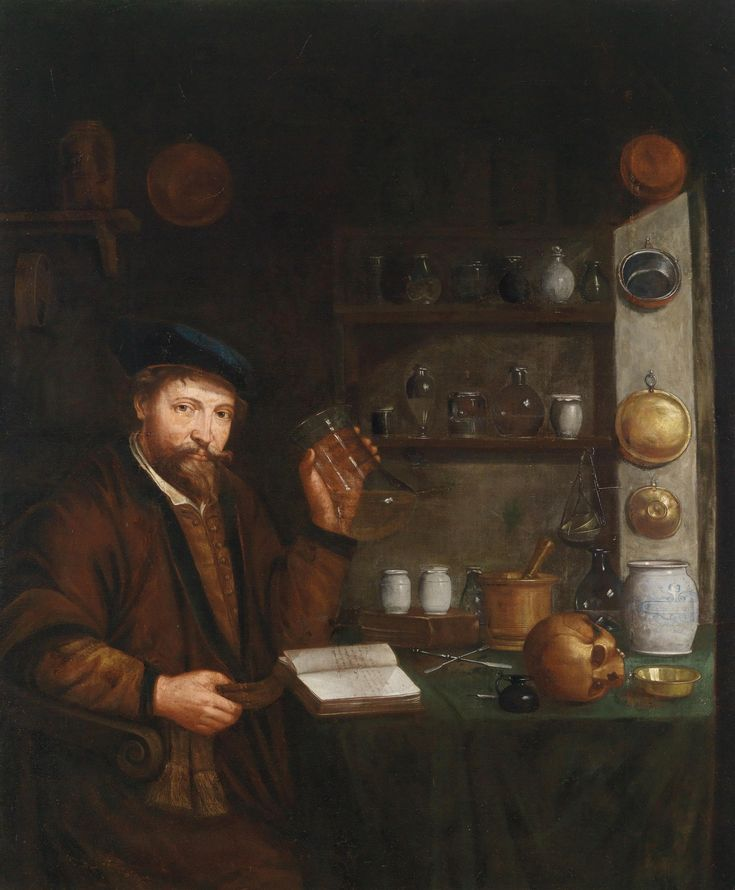 Johann Cordua (1630-1702) — A Doctor in His Study (1735×2100):