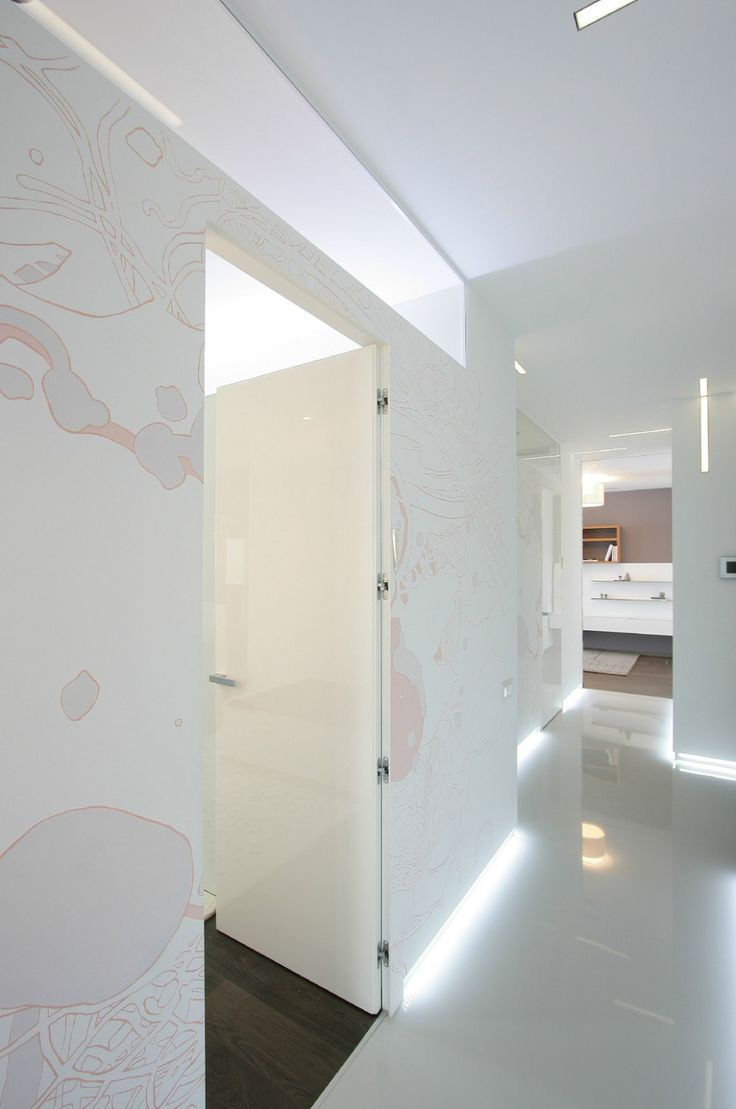 Apartments:Amazing Bespoke Wall Art For Glowing White Interior Design Ideas For Modern Apartment Living Room Ideas With Light Boxes On Bespoke Wall Art And White Marble Flooring Also Wooden Flooring Make Modern Interior Designs Glowing white Interior Design Ideas for Modern Apartment Living Room Ideas