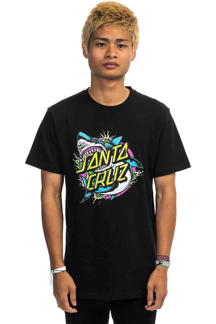 Santa Cruz Shark Dot T-Shirt (black multi)