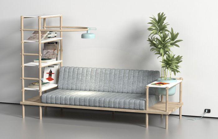 Herb le canapé multifonction par Burak Kocak / Get started on liberating your interior design at Decoraid (decoraid.com)