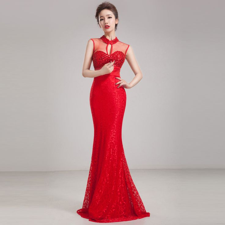 Lace Evening Dress 2014 Long Sequins Mermaid Red Blue Purple Custom Formal Prom Gowns for Women Plus Size Free Shipping