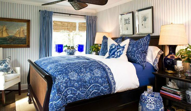 1893 best country bedrooms to love images on pinterest for Cobalt blue bedroom ideas