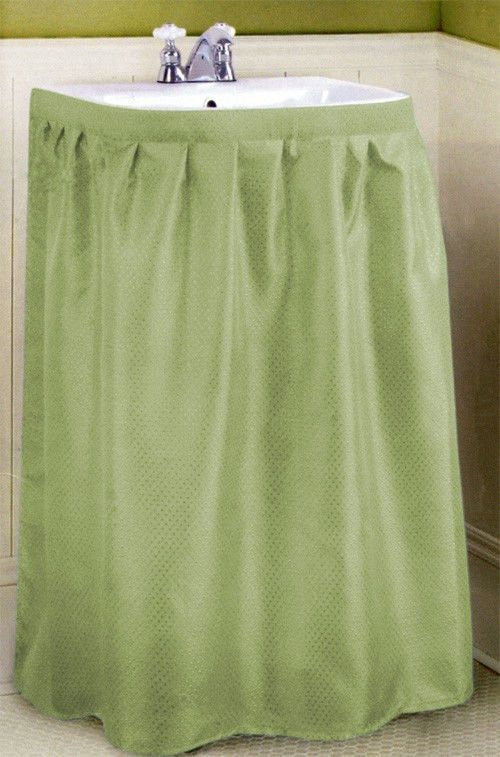Fabric Sink Skirt Sink Skirts Green | eBay