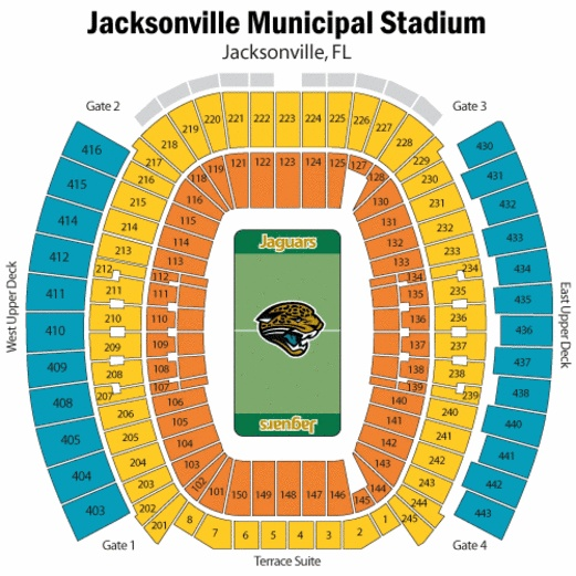 Where would you prefer to sit at the jacksonville municipal stadium