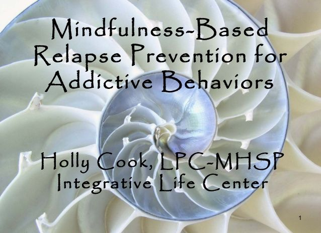 mindfulness based relapse prevention manual