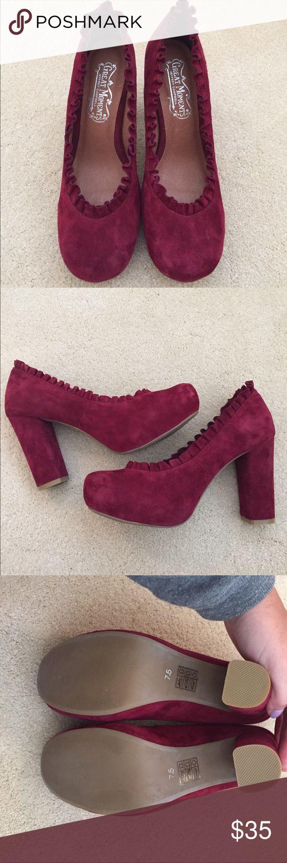 Beautiful suede maroon pumps NEVER WORN Jeffrey Campbell suede pumps Jeffrey Campbell Shoes Heels