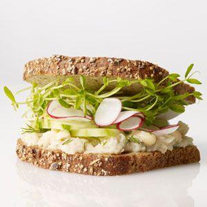 Smashed White Bean, Cucumber and Radish Sandwich | Recipe | White ...