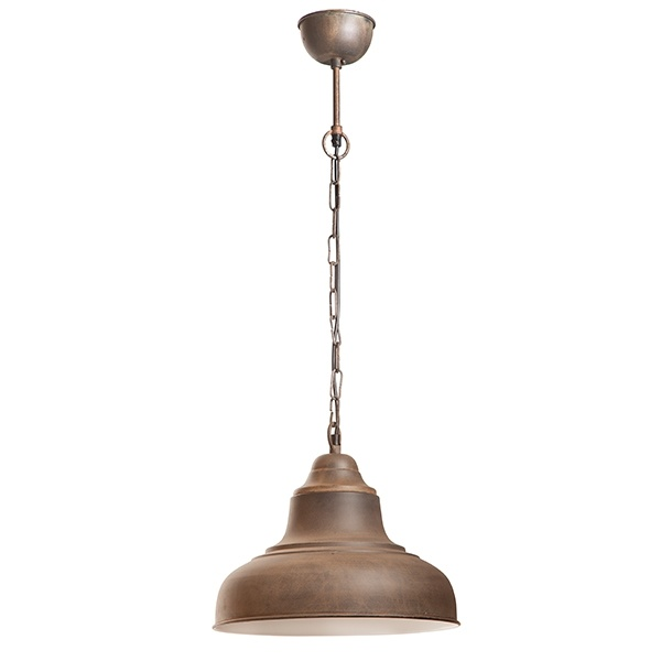 Brassiere small overhead lamp in rust    Size: Width 330mm x Height 300mm