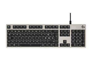 Logitech Tastatur G413 Romer-G, Tastatur Typ: Gaming, Tastaturlayout: QWERTZ (CH), Tastatur Features: Anti-Ghosting, Beleuchtung, Einstellbarer Neigungswinkel, Programmierbare Tasten, USB-Hub, Keyboard Tasten: Mechanisch, Farbe: Silber, Verbindung Maus/Tastatur: USB, 1.8 m Kabellänge