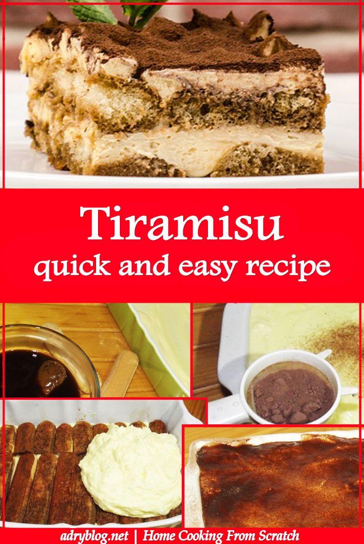 tiramisu quick and easy recipe