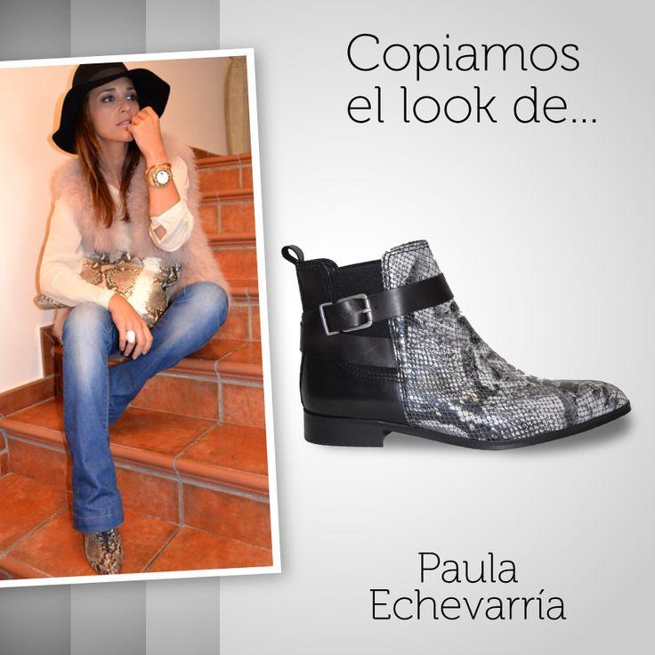 Copiamos el #look de Paula Echevarría  y lo combinamos con uno de nuestros #botines #animalprint más atrevidos ¿Os atrevéis con ellos?