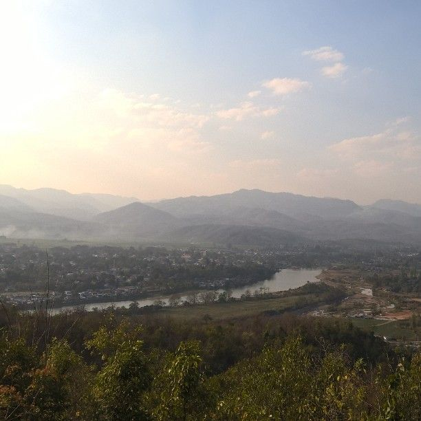 Hsipaw depuis sunset hill.    #Myanmar #hsipaw #sunsethill