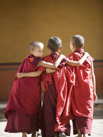Buddhist Monks, Paro Dzong, Paro, Bhutan Photographic Print