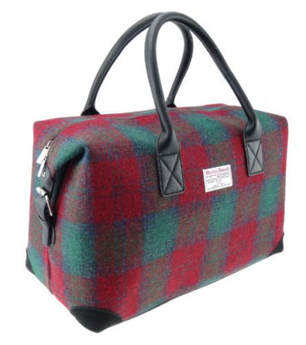 Harris-Tweed-Red-Check-Overnight-Bag-LB1006-COL13