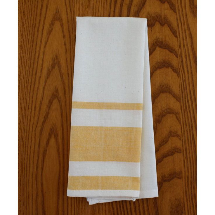 Global Crafts Set Of Two Yellow Tea Towels   Sustainable Threads