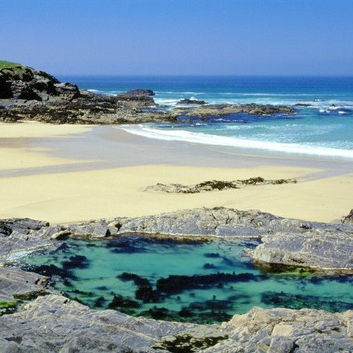 Beaches in UK - Treyarnon Rock Pool, Treyarnon Bay Beach, Padstow, Cornwall