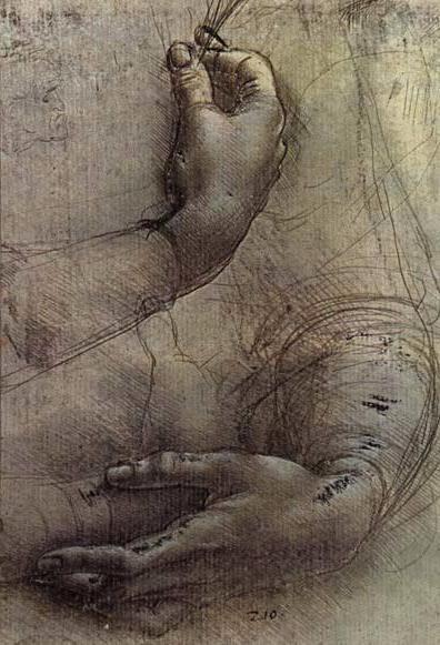 56 dessins de Leonard De Vinci dessin leonard de vinci hands 23