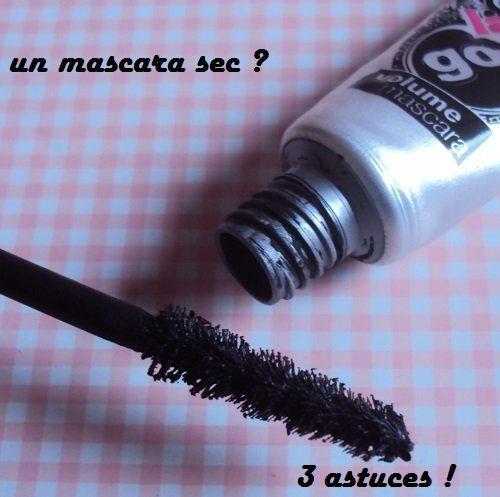 mascara sec :glycérine ou huile de ricin