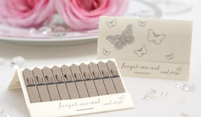Seed wedding favours