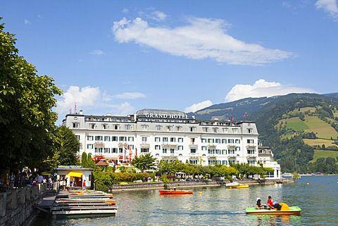 Grand Hotel on Lake Zell am See, Pinzgau, Salzkammergut, Austria, Europe