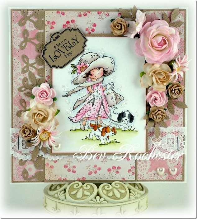 "Beautiful card featuring LOTV's ""Emma's Walkies"" by Bev Rochester"