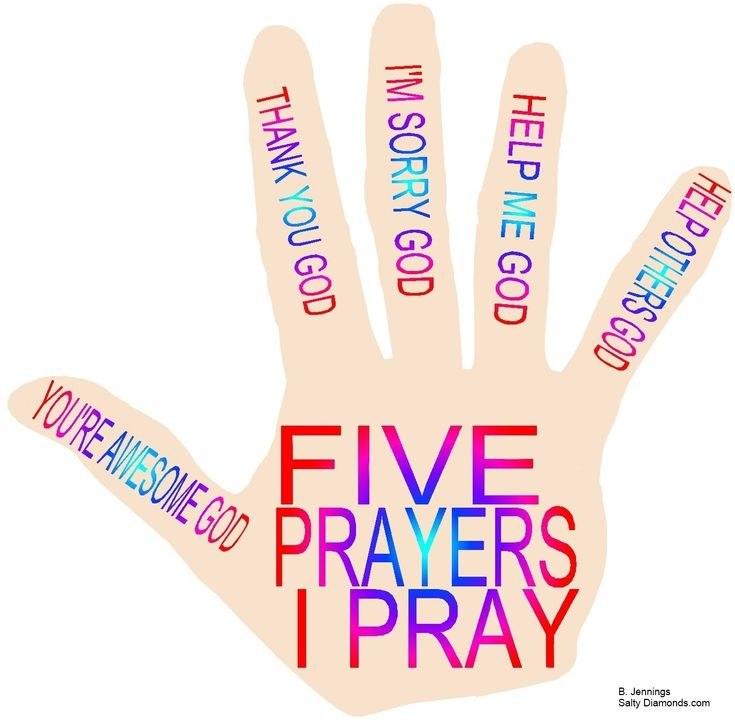 "SATELLITE: The Prayer Hand. Five prayers I pray. Free printable PDFs with prayer games that can move from one Bible story to another, as needed and as it applies. Example-The ""I'm Sorry, God"" prayer (working on that) could be applied to Zacchaeus and Woman at Well. The Prayer Hand- FREE PDFs and more in future @ http://www.saltydiamonds.com/SatellitePrayer.html"