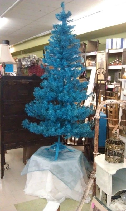 Spray Painted Fake Christmas Tree
