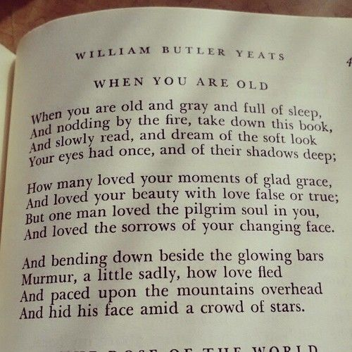 when you are old by william butler yeats analysis Prime education offers a comprehensive english lesson for when you are old | poetry of william butler yeats join prime education.