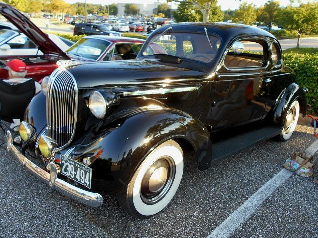 https://flic.kr/p/xizQBf | 1938 Plymouth Coupe | Lost in the 50s Cruise Night, Marley Station Mall, Glen Burnie, MD, August 8, 2015.