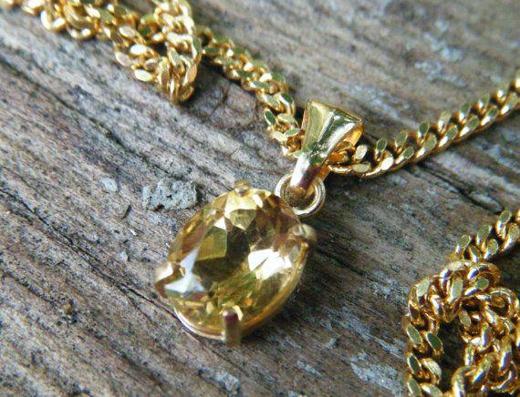 Yellow citrine pendant yellow citrine necklace by ExquisiteGem