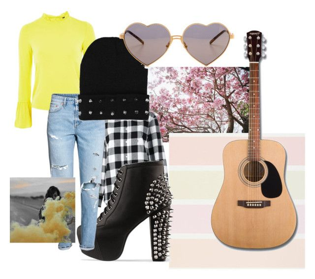 """Paramore Inspired: Fake Happy Outfit"" by softoctobernight on Polyvore featuring Topshop, Golden Goose, Jeffrey Campbell, Wildfox and Starter"